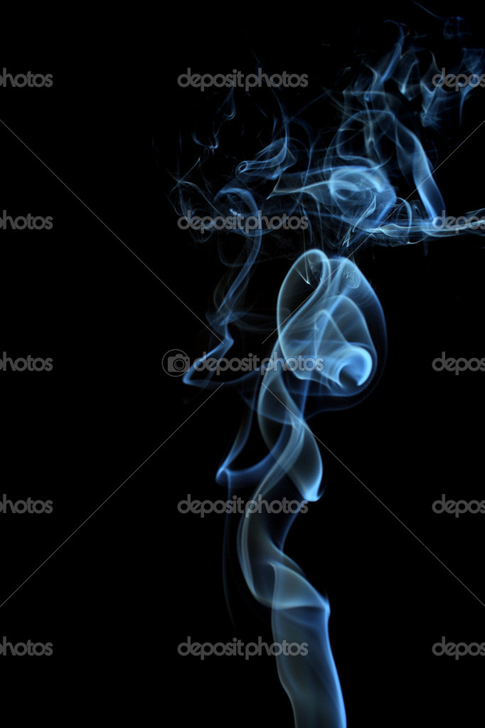 Smoke on a black background — Photo #6427589