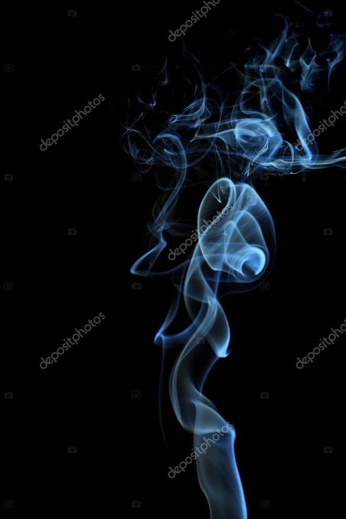 Smoke on a black background   #6427589