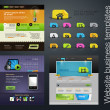 Stockvector : Web design set +bonus icons