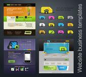 веб-дизайн набор + бонус иконы — Cтоковый вектор