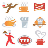 Icons_cooking_waiter — Stock Vector