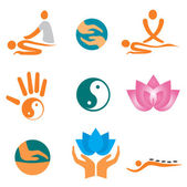 Icons_of_massage — Stock Vector