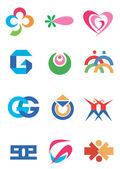 Company_icons_symbols — Stock Vector