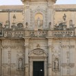 Baroque facade of the duomo, Lecce, Italy - Stock Photo