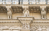 Baroque detail - Holy Cross basilica - Lecce, Apulia, Italy — Stock Photo