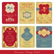 Vector de stock : Vintage label set