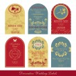 Vintage label set — Stock Vector