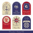 Decorative Nautical Set — Vector de stock #5449640