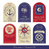 Decorative Nautical Set — Vector de stock