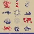 Decorative Nautical Set — Vector de stock #5465884