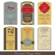 Vintage label set - Stock Vector