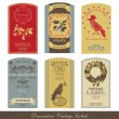 Vintage-Label-Set — Stockvektor