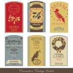 conjunto de sello Vintage — Vector de stock