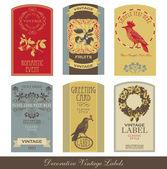 Etichetta vintage set — Vettoriale Stock