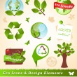 Ecology icons and design elements - ベクター素材ストック