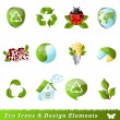 Ecology icons and design elements — Vettoriale Stock #5576867