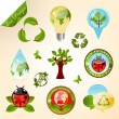 Ecology icons and design elements — Stock Vector #5576927