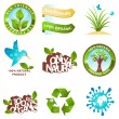 Ecology icons and design elements — 图库矢量图片