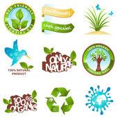 Ecologie pictogrammen en ontwerpelementen — Stockvector