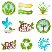 Ecology icons and design elements — Vettoriale Stock