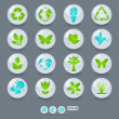 Stock Vector: Ecology icons and design elements