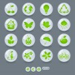Ecology icons and design elements — Vettoriali Stock