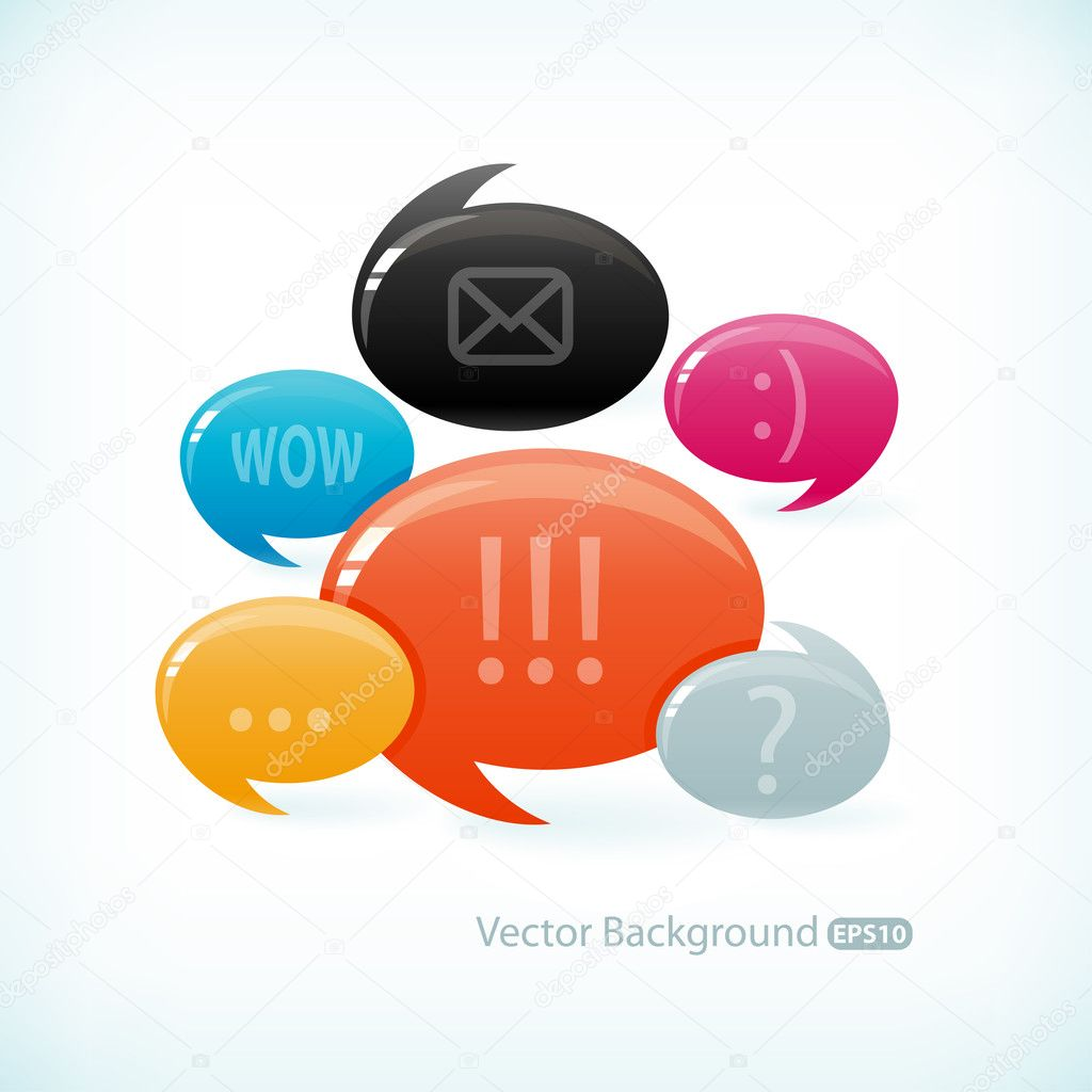 Decorative speech bubble illustration — Stock Vector #5627767