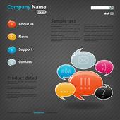 Illustration de modèle de site web — Vecteur