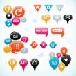 colección de elementos Web — Vector de stock