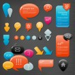 Collection of website elements — Stock Vector