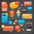 Royalty-Free Stock Imagen vectorial: Collection of website elements