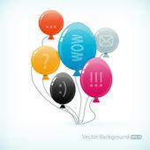 Multicolored balloons — Stock Vector