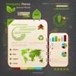 Website Design Template. Ecology theme. - Vettoriali Stock 