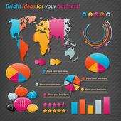 Vektor-icons für business-präsentationen und berichte. — Stockvektor