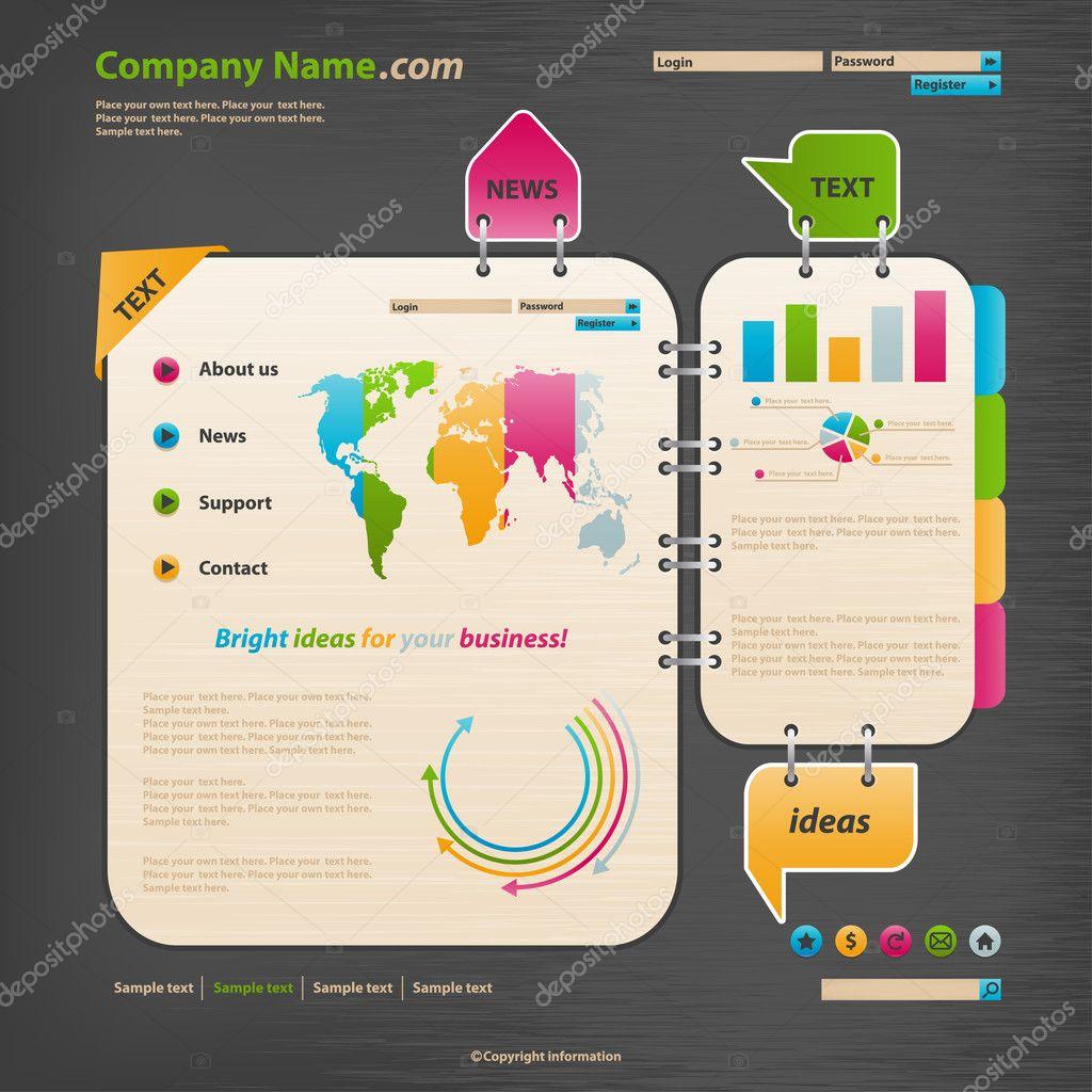 website design template stock vector vikasuperstar 5717169