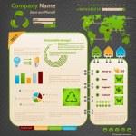 modelo de design do site. tema Ecologia — Vetorial Stock