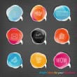 Transparent speech bubbles for your website — Stock Vector