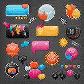 Web sitesi öğeleri koleksiyonu — Stok Vektör
