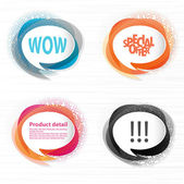 Transparent speech bubbles for your website — Vettoriale Stock
