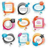 Coleção de elementos de site — Vetorial Stock