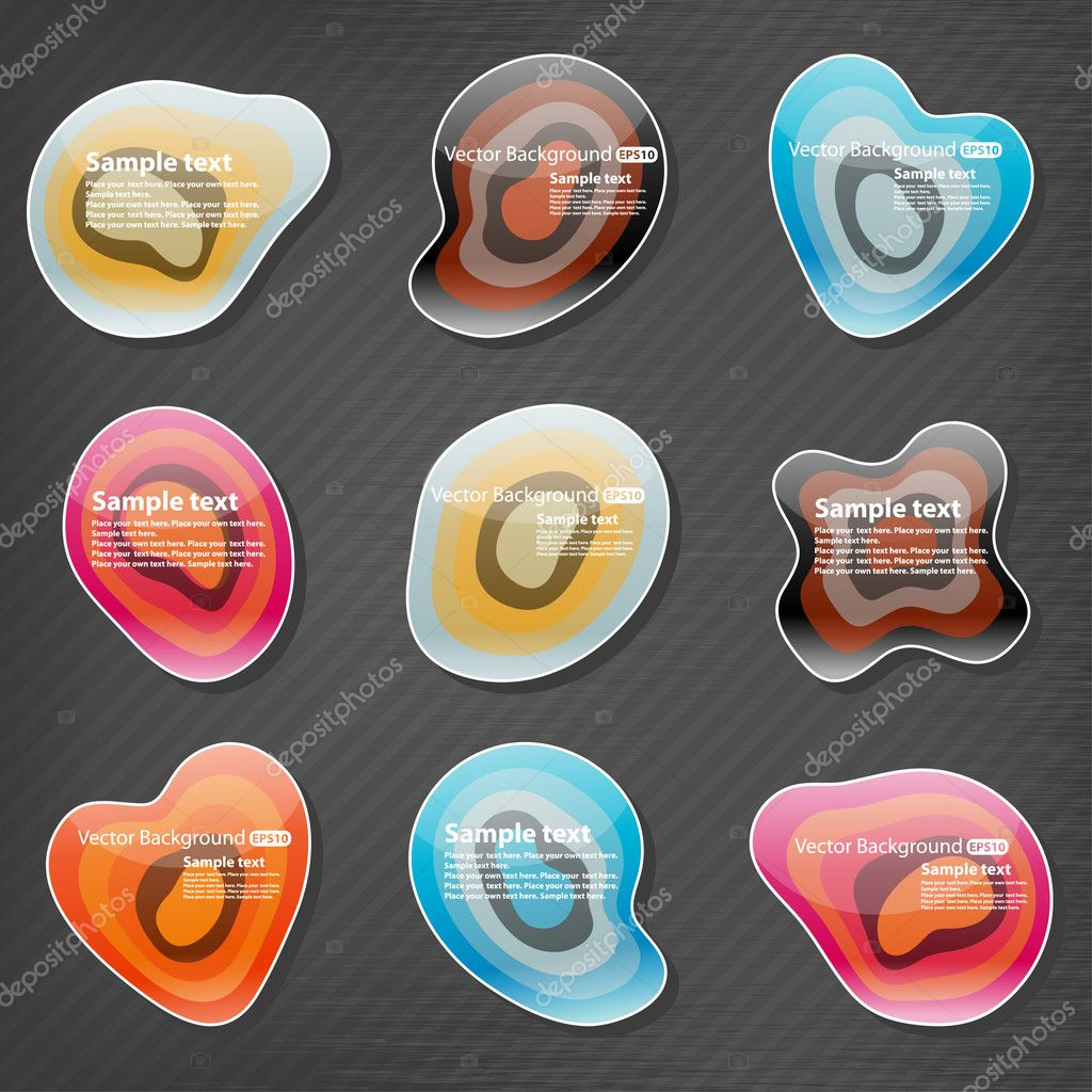 depositphotos 5781817 Glossy organic shapes website elements Grey Modern Website Design Elements: Buttons, Form, Slider, Scroll, Icons, ...
