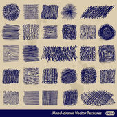 Hand-drawn vector textures — Stock Vector