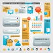 Collection of website elements - Imagen vectorial