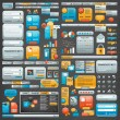 Giant collection of website elements - Stock Vector