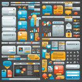 Coleção gigante de elementos do site — Vetorial Stock