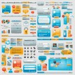 Giant collection of website elements — Vector de stock #6406735