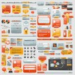Stock Vector: Giant collection of website elements