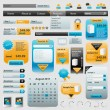 Collection of website elements — Vector de stock #6406752