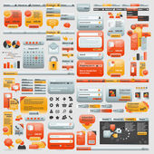 Gigantische collectie van website elementen — Stockvector