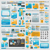 Gigante colección de elementos web — Vector de stock
